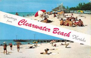 USA Greetings from Clearwater Beach Florida Sea Bridge