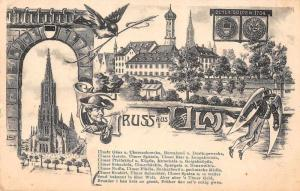 Ulm Germany Gruss aus Antique Postcard J76270