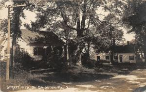 F21/ South Bridgeton Maine RPPC Postcard c1910 Street View Homes