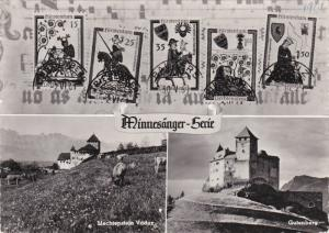 RP: Liechtenstein , 3-view postcard , 1961