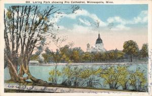 MINNEAPOLIS MN~LORING PARK SHOWING PRO CATHEDRAL (NOT PROPER CATHEDRAL) POSTCARD