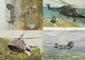 Lynx Mk 2 Boeing Vertol Chinook HC 1 4x Military Helicopter Postcard s