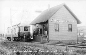Crouseville Maine Electric Railroad Station Real Photo Vintage Postcard JD933164