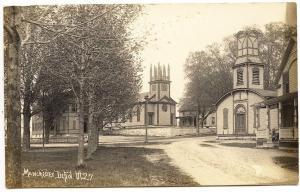 Manchester Depot VT Churches Street View RPPC Real Photo Postcard