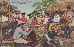 Seminole Indians Fur Trading In The Everglades Of Florida Curteich
