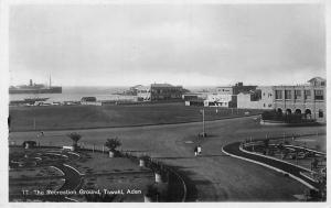 Yemen Aden Tawahi, The Recreation Ground, Ship, real photograph , aden