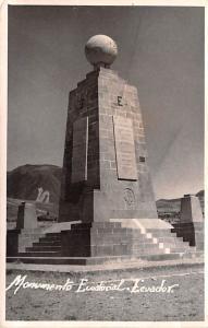 Ecuador, Republica del Ecuador Monumento Ecuational  Monumento Ecuational