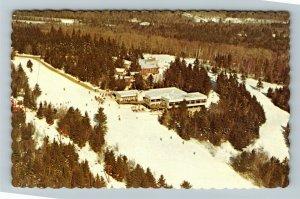 New London NH- New Hampshire, King Ridge Ski Area, Aerial, Chrome Postcard