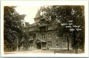 CRETE, Nebraska RPPC Real Photo Postcard Merrill Hall, DOANE COLLEGE c1910s