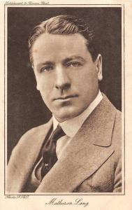 Matheson Lang, Canadian film actor, Supplement to Cinema Chat, Postcard