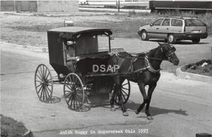 A52/ Sugar Creek Tuscarawas County Ohio Postcard 1993 RPPC Gilmore Amish Buggy 3