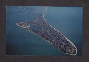 FL Anna Maria Island Aerial View Coquina Beach Longboat Key Florida Postcard