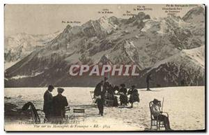 Old Postcard Luchon Superbagneres Vur on Ies Mountains Venasque