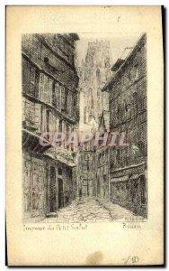 Old Postcard Rouen Impasse of small hi