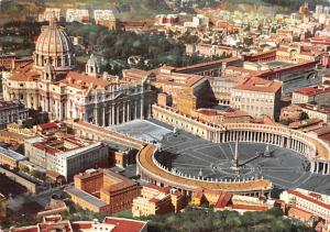 Italy Old Vintage Antique Post Card Vatican City Roma 1957