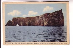Perce Rock from East Showing Two Arches, Quebec, HV Henderson