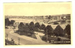 Liege, Les Terrasses et la Meuse, Belgium, 1910-30s