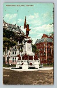 Montreal P.Q. Canada - Maisonneuve Monument, Vintage Postcard