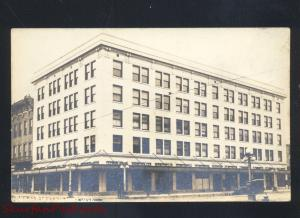RPPC CHEYENNE WYOMING DOWNTOWN BUILDING STREET SCENE REAL PHOTO POSTCARD