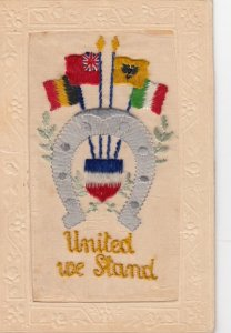 WAR 1914-18 ; United we stand ; Flags of Allies ; Embroidered