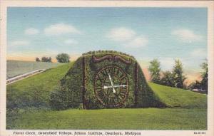 Floral Clock Greenfield Village Edison Institute Dearborn Michigan