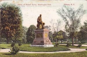 New York Albany Statue Of Robert Burns Washington Park  1905