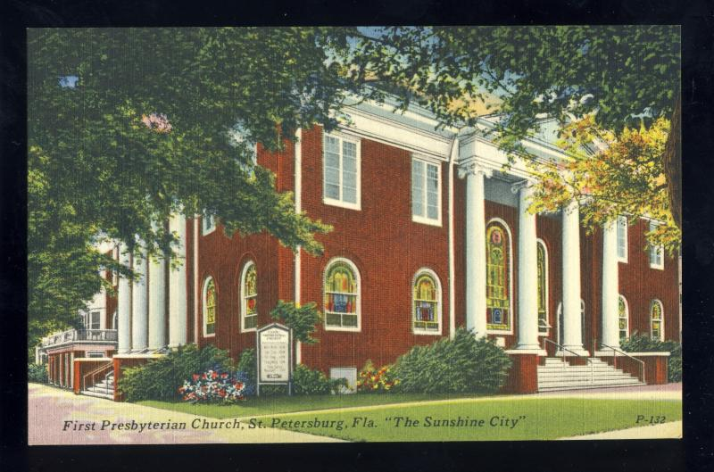 St Petersburg, Florida/FL Postcard, First Presbyterian Church