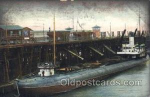 Whale Back Bay - Coal pier, Newport News,VA, USA Steamer, Steamers, Ship, Shi...
