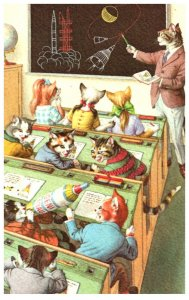 Cats in Classroom , SChool    Alfred Mainzer no. 4965