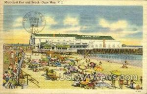 Municipal Pier  Cape May NJ 1945