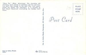 Biloxi Mississippi~Shoo Fly Oak Tree Gazebo~East Beach Boulevard~1950s Postcard