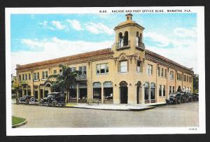 Post Office & Arcade Manatee FL unused c1920's