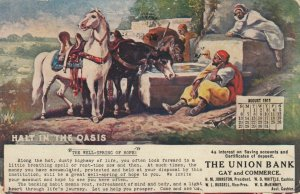 KNOXVILLE , Tennessee, 1911 ; Union Bank Calendar card, Halt in the Oasis