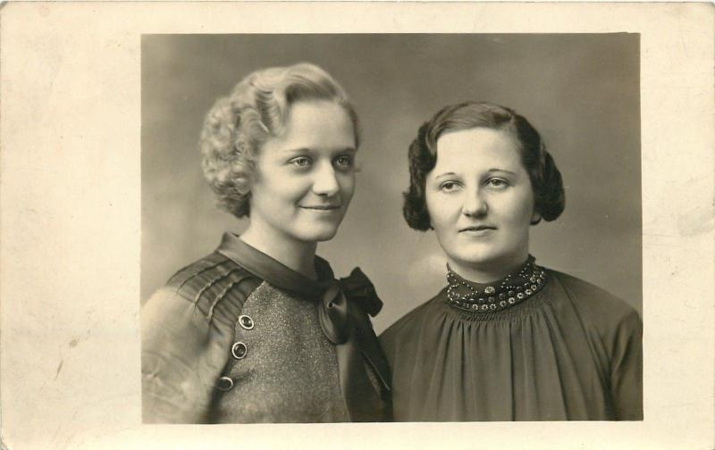 Real Photo Postcard~Pelecky Sisters~Miss Congeniality~Most Photogenic~c1925 pc