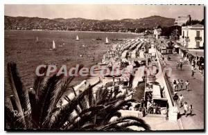 Old Postcard Juan Les Pins Plage Du Grand Pin