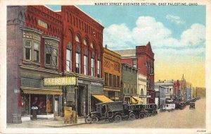 East Palestine Ohio Market Street Business Section Vintage Postcard JI657254