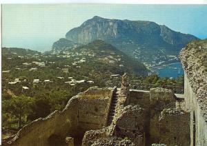 Italy, Capri, Villa Jovis and general view, unused Postcard