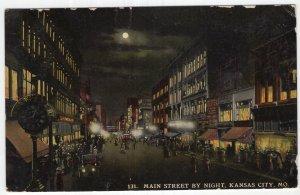 Kansas City, Mo, Main Street By Night