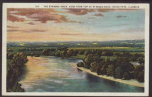 Evening View From Starved Rock State Park,IL Postcard