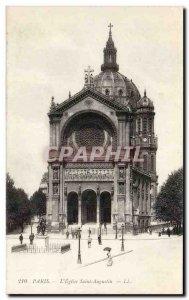 Paris - 8 - St. Augustine Church - Old Postcard
