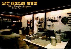 Postcard PA Pennsylvania Lititz Candy Americana Museum Wilbur Chocolate Unposted