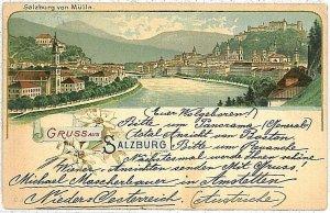 VINTAGE POSTCARD: AUSTRIA - GRUSS AUS : Salzburg