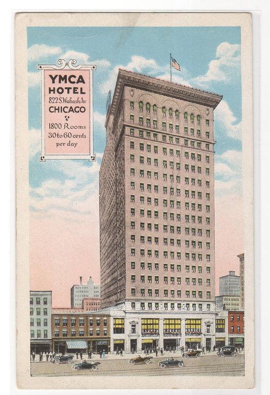 YMCA Hotel Chicago Illinois 1919 postcard / HipPostcard