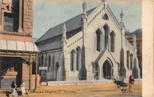 South Africa Durban Wesleyan Church rickshaw postcard