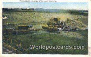 Threshing Scene Western Canada Canada Postal Used Unknown