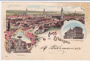 Gruss aus Erlangen , Middle Franconian city in Bavaria, Germany PU-1901