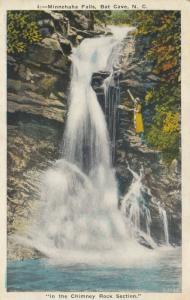 BAT CAVE, North Carolina, 10-20s; Minnehaha Falls, In the Chimney Rock Section