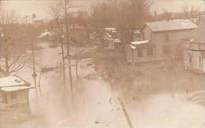 Ohio Fremont Flood Scene 1916 Real Photo RPPC