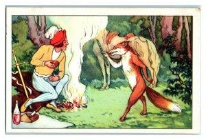 Fox Meets the Prince, The Golden Bird, Echte Wagner German Trade Card *VT31T