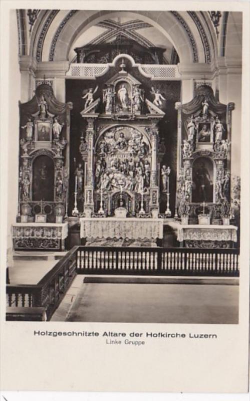 Switzerland Holzgeschnitzte Altare der Hofkirche Luzern Photo